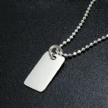 Boy's Silver Dog Tag ID Pendant, personalised, ref. BSDT1